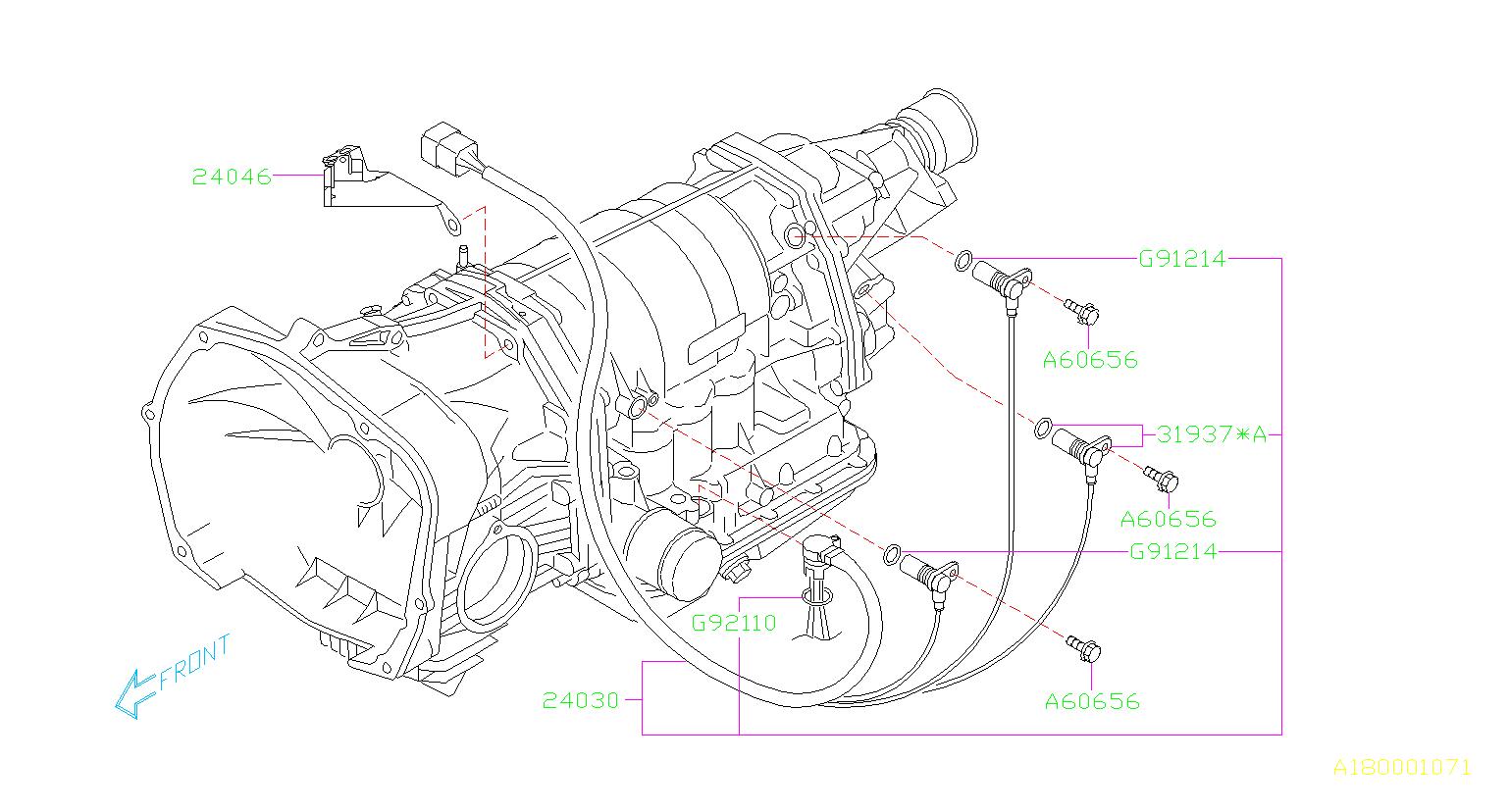 2005 Subaru Outback Vehicle Speed Sensor  Shift  Control  Transmission