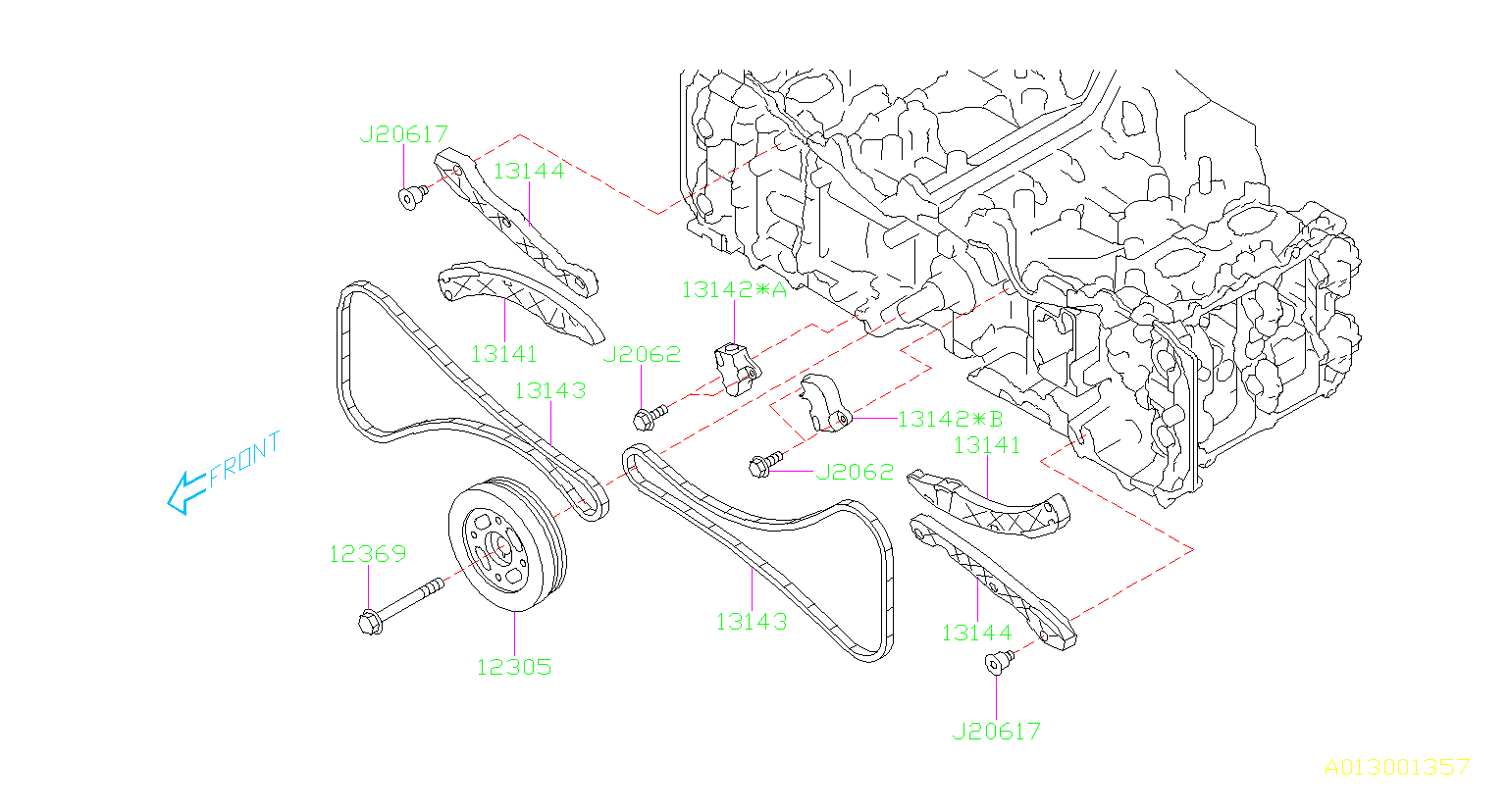 Subaru Outback Chain Timing Belt Camshaft Engine