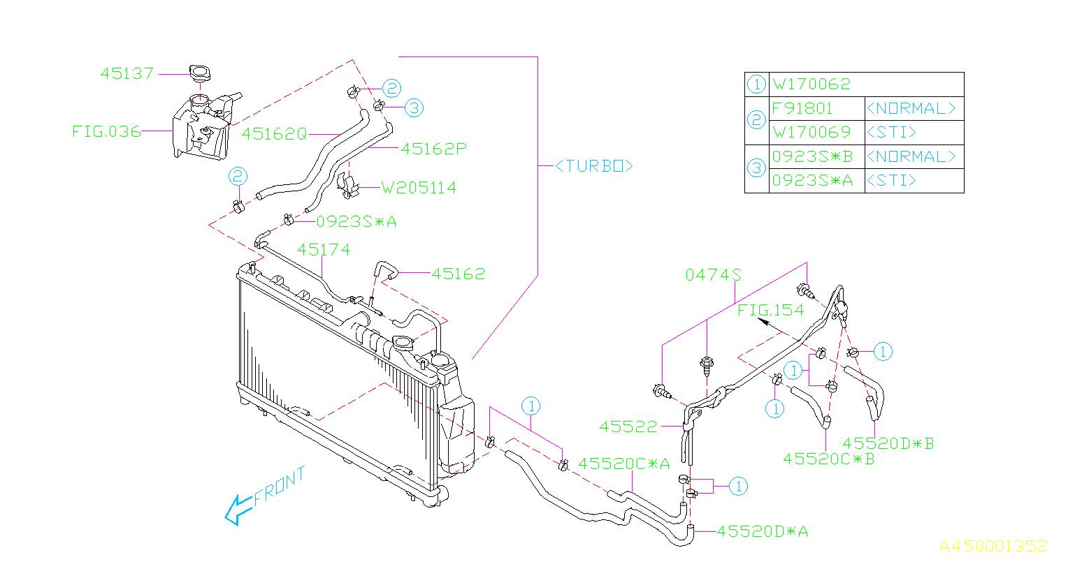 45520ag110 Subaru Hose A T F Engine Cooling