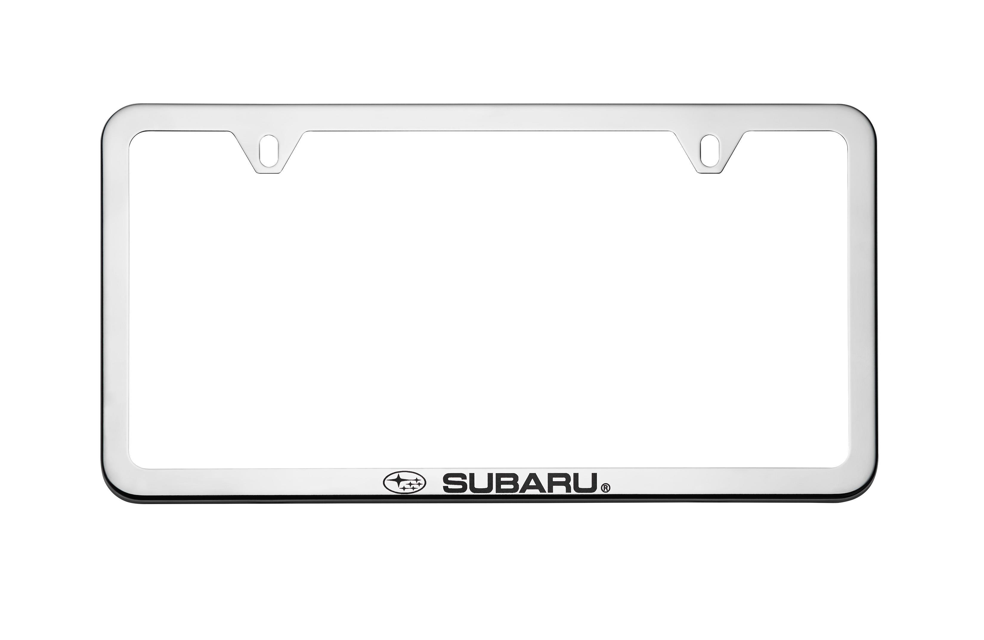 2016 Subaru Forester Subaru License Plate Frame Polished